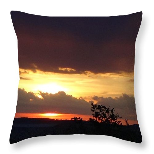 Sunset Throw Pillow featuring the photograph Orange September Sunset by Toni Berry