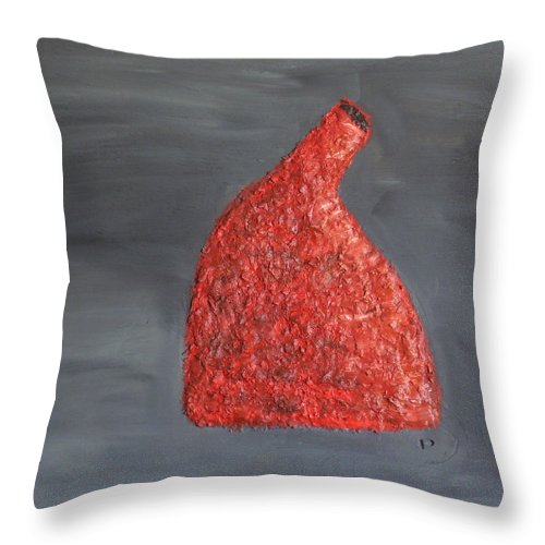 Still Life Paintings Throw Pillow featuring the painting Orange Vase by Leslye Miller