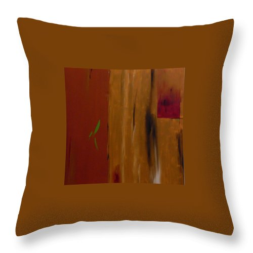 Abtract Throw Pillow featuring the painting Orange With A Hint Of Lime by Serina Wells