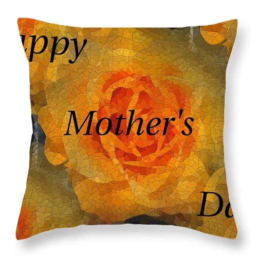 Mother's Day Throw Pillow featuring the digital art Orange You Lovely Mothers Day by Tim Allen