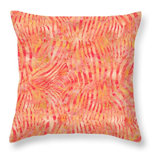 Painting Throw Pillow featuring the painting Orange Zebra Print by Aloke Creative Store