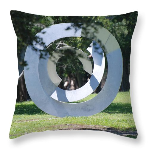 Landscape Throw Pillow featuring the photograph Orbs by Rob Hans