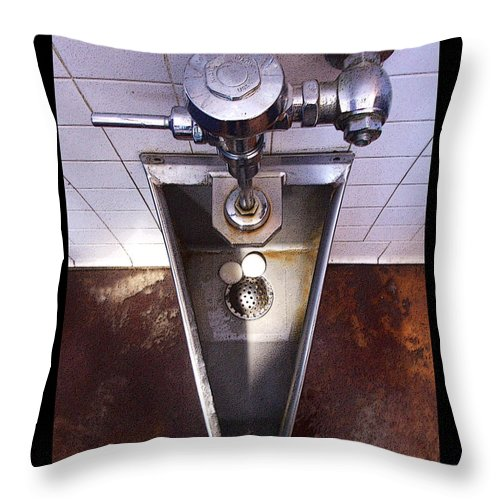 Urinal Throw Pillow featuring the photograph Orcas Island Urinal by Tim Nyberg