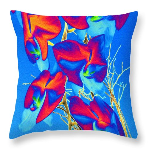 Orchid Throw Pillow featuring the photograph Orchid 1 by Tim Allen