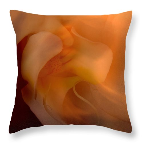 Orchid Throw Pillow featuring the photograph Orchid Detail by Michael Ziegler