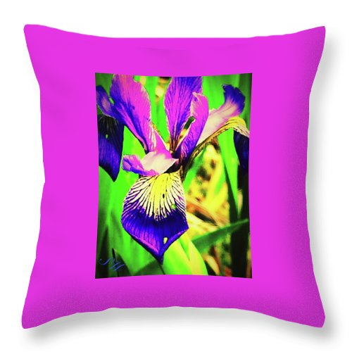 Flower Throw Pillow featuring the photograph Orchid by Samuel Westensee