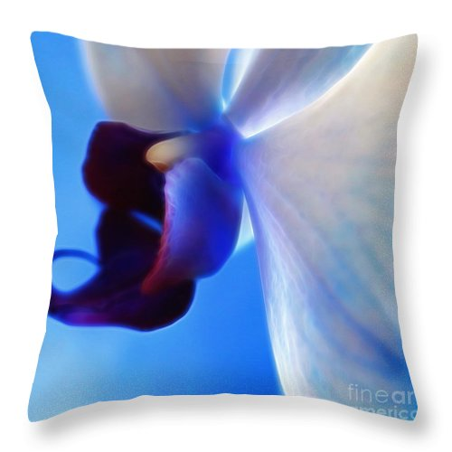 Orchid Throw Pillow featuring the digital art Orchid Serenity by Krissy Katsimbras