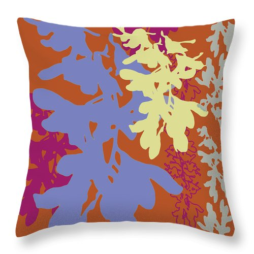 Lavender Throw Pillow featuring the digital art Orchids Caramel by Ceil Diskin