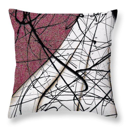 Pareidolia Throw Pillow featuring the painting Organic Garlic Fresh From The Garden by Ismael Cavazos