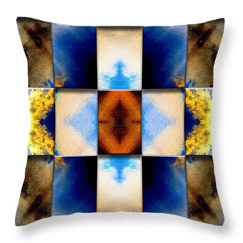 Abstract Digital Art Throw Pillow featuring the digital art Origin Of All Things by Mark Sellers