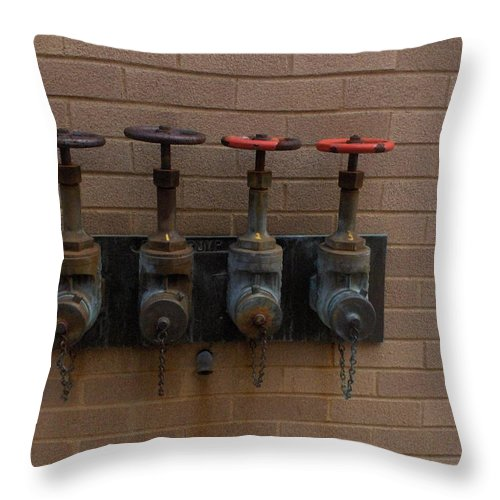 Photograph Throw Pillow featuring the photograph Original Four Pipes by Thomas Valentine