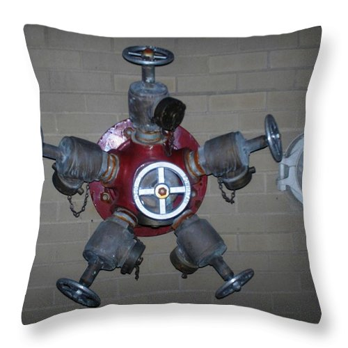 Photograph Throw Pillow featuring the photograph Original Male Pipe by Thomas Valentine