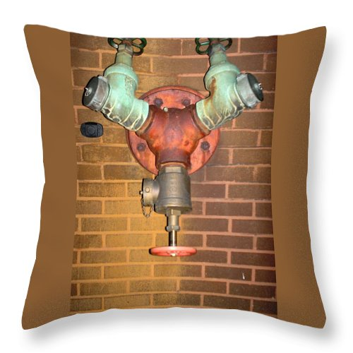 Photograph Throw Pillow featuring the photograph Original Pipe by Thomas Valentine