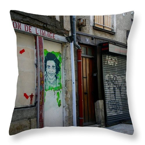 Alley Throw Pillow featuring the photograph Orleans France Alley by Minaz Jantz