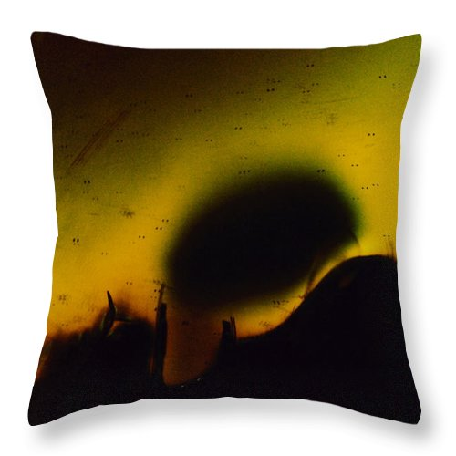 Abstract Throw Pillow featuring the photograph Ormand by David Rivas