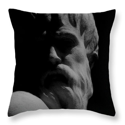 Black And White Throw Pillow featuring the photograph Orpheus Looks Back by RC DeWinter