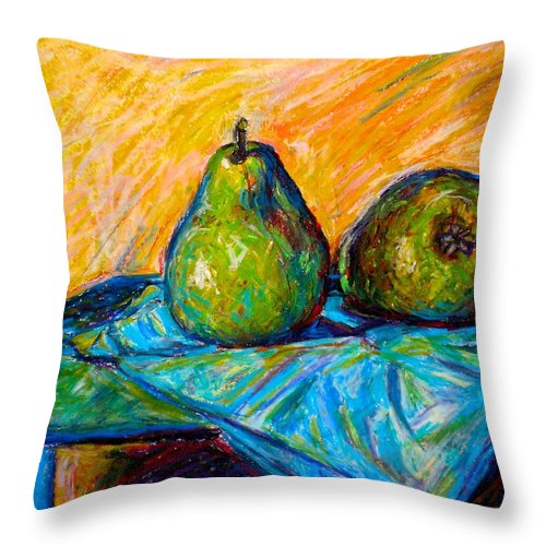Still Life Throw Pillow featuring the painting Other Pears by Kendall Kessler