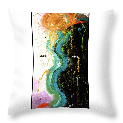 Art Throw Pillow featuring the digital art Other Wise by Dar Freeland