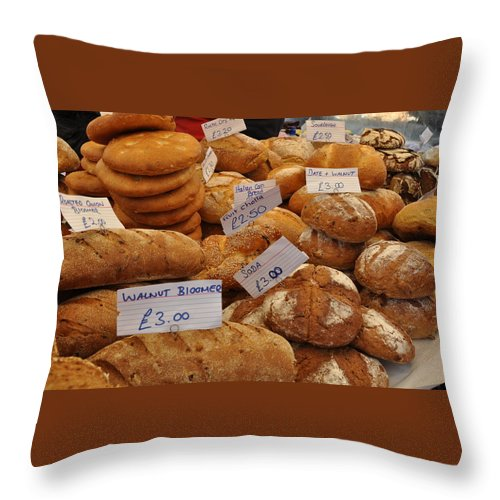 Bread Throw Pillow featuring the photograph Our Daily Bread by Caroline Reyes-Loughrey