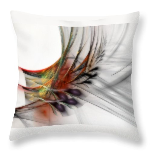 Abstract Throw Pillow featuring the digital art Our Many Paths by NirvanaBlues