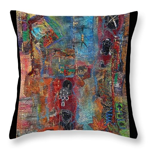 Africa Throw Pillow featuring the mixed media Out Of Africa 1 by Averil Stuart-Head