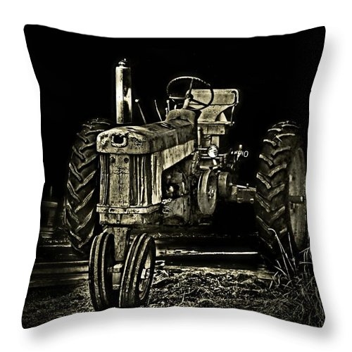 Abandoned Throw Pillow featuring the photograph Out Of Shadow by Catherine Melvin