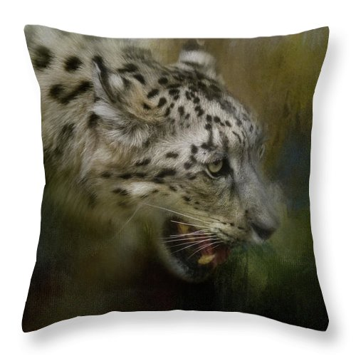 Jai Johnson Throw Pillow featuring the photograph Out Of The Brush by Jai Johnson