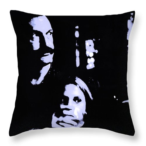 Scary Throw Pillow featuring the photograph Out Of The Dark by Madeline Ellis