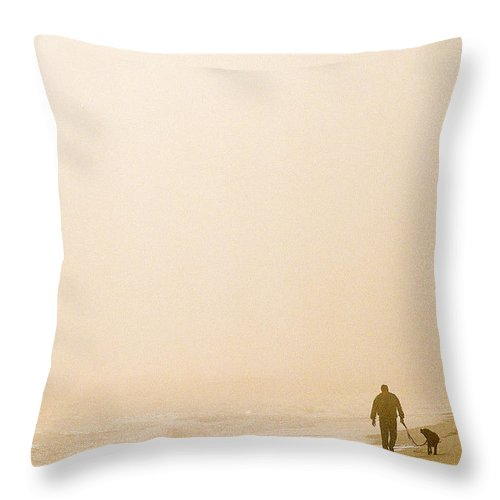 Landscape Throw Pillow featuring the photograph Out Of The Mist by Steve Karol