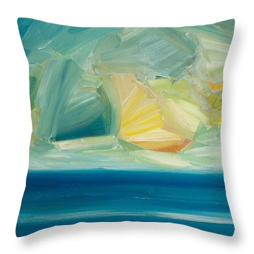 Sea Throw Pillow featuring the painting Out To Sea by Timothy Gent