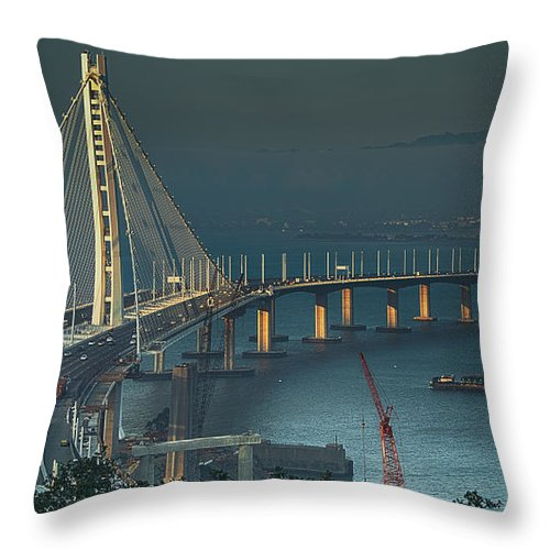 Architecture Throw Pillow featuring the photograph Out With The Old by Laura Macky