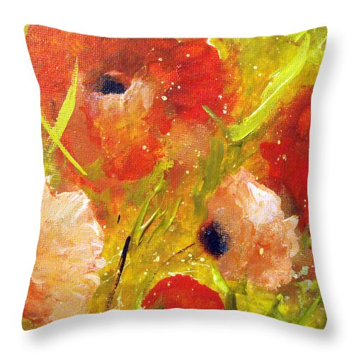 Decorative Throw Pillow featuring the painting Out With The Sun by Ruth Palmer