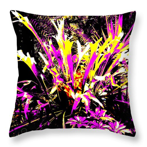 Square Throw Pillow featuring the digital art Outburst by Eikoni Images