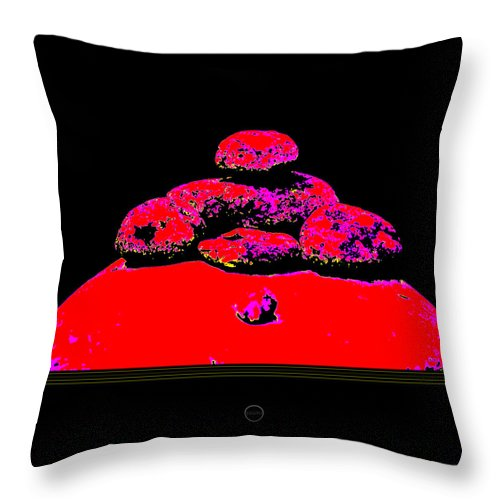Square Throw Pillow featuring the digital art Outgrabe by Eikoni Images