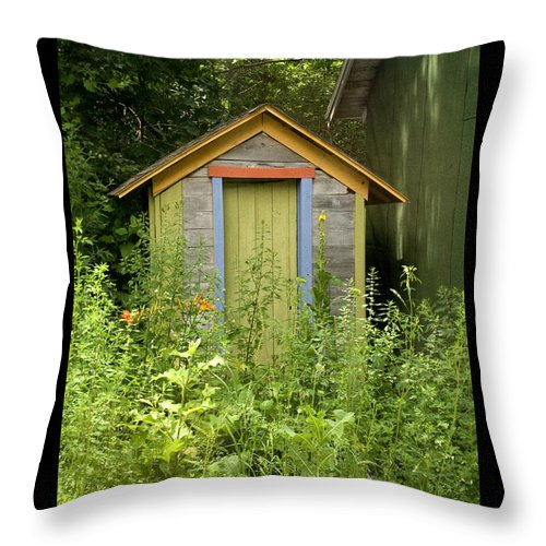 Outhouse Throw Pillow featuring the photograph Outhouse by Tim Nyberg