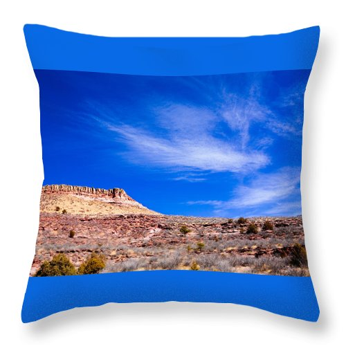 Red Throw Pillow featuring the photograph Outside Lyons Colorado by Marilyn Hunt