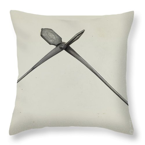 Throw Pillow featuring the drawing Oven by Arthur Stewart