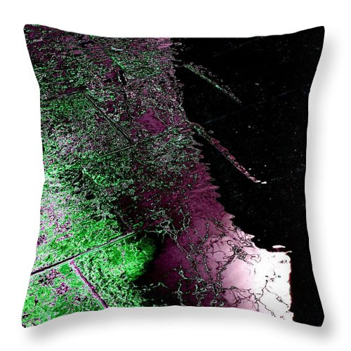 Water Throw Pillow featuring the photograph Over Halfway There by Tim Allen