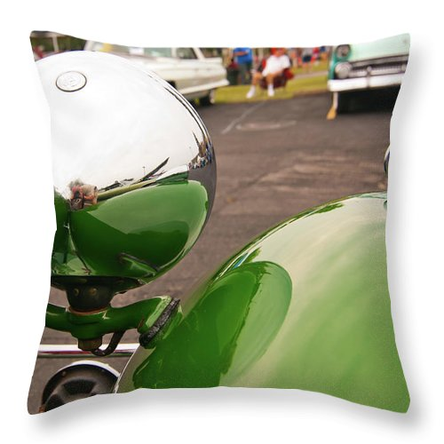 Antique Car Throw Pillow featuring the photograph Over My Shoulder 2042 by Guy Whiteley