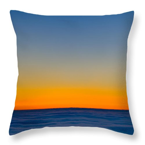 Landscape Throw Pillow featuring the photograph Over The Clouds by Silke Magino