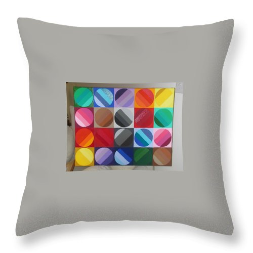 Green Throw Pillow featuring the painting Over The Rainbow 2 by Gay Dallek