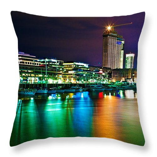 Buenos Throw Pillow featuring the photograph Over The Rainbow by Francisco Colon
