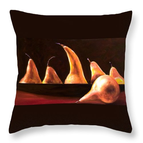 Still Life Throw Pillow featuring the painting Overboard by Shannon Grissom