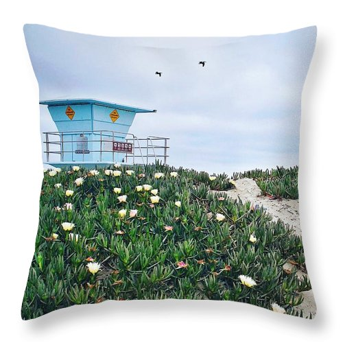 Ajasper Throw Pillow featuring the photograph Overcast Sunday by Anna Jasper