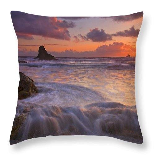 Sunset Throw Pillow featuring the photograph Overcome by Mike Dawson