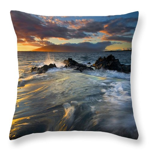 Cauldron Throw Pillow featuring the photograph Overflow by Mike Dawson