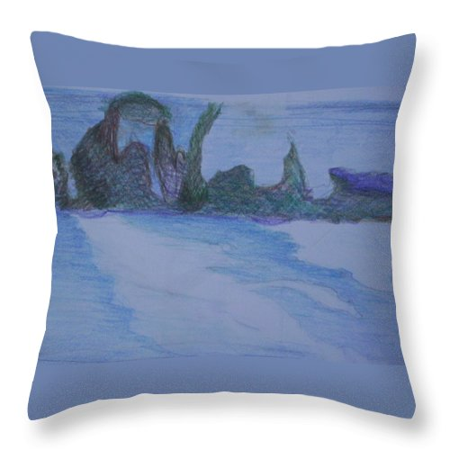 Abstract Painting Throw Pillow featuring the painting Overlap by Suzanne Udell Levinger