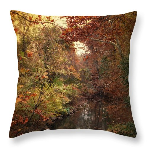 Autumn Throw Pillow featuring the photograph Overlook by Jessica Jenney