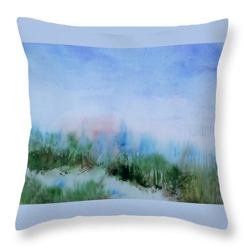 Landscape Throw Pillow featuring the painting Overlook by Suzanne Udell Levinger
