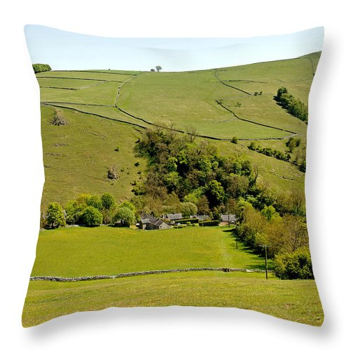 Milldale Throw Pillow featuring the photograph Overlooking Milldale by Rod Johnson